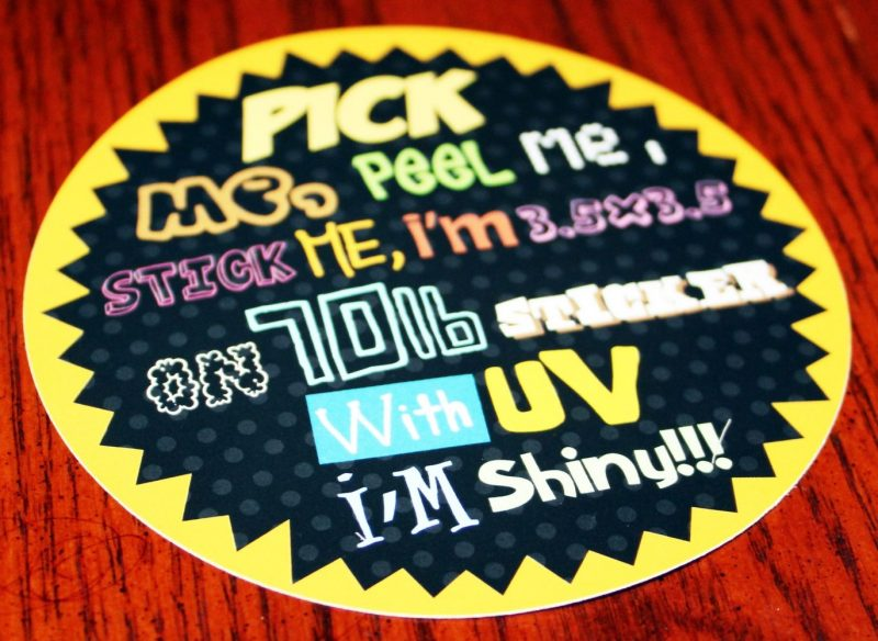 70lb stickers with uv