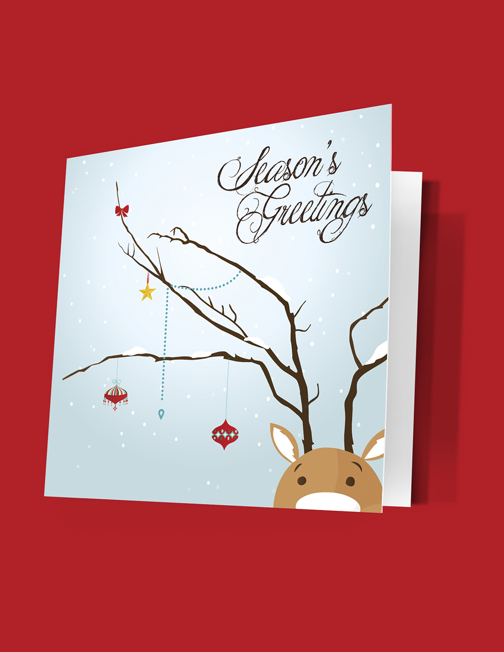 100lb Cover Uncoated Linen Greeting Cards Printing Service In